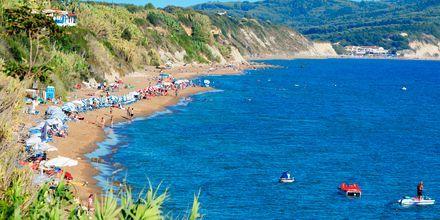 Strandstemning i Agios Georgios på Korfu