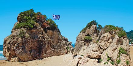 Strandparti i Agios Gordis på Korfu