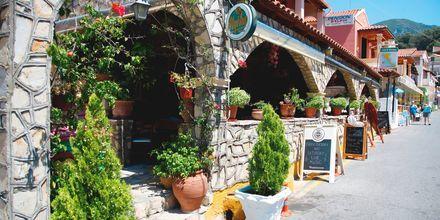 Ett hyggelig spisested i Agios Gordis på Korfu