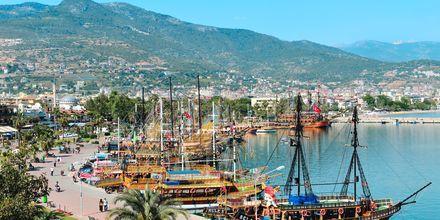 Havnen i Alanya, Tyrkia.