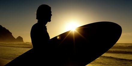 Surfing på Algarvekysten