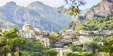 Positano på Amalfikysten i Italia.