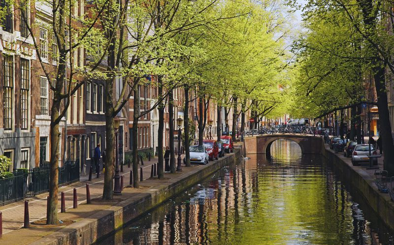 Hovedstaden Amsterdam er en svært vakker by.