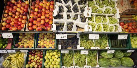 Frukt og grønnsaker like om hjørnet