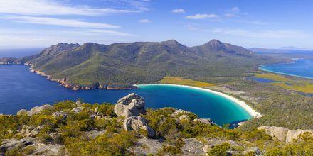 Wineglass Bay i Freycinet National Park på Tasmania