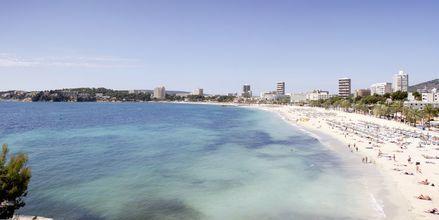 Stranden sett fra hotellet
