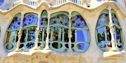 Ett av Gaudis mer kjente vinduer.