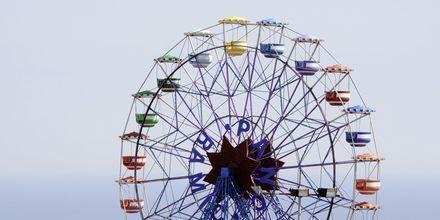 Pariserhjul i Barcelona.