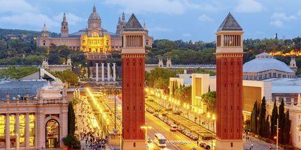 Placa de Espanya i Barcelona, Spania.