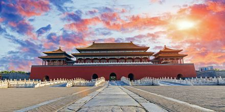 Den forbudte by i Beijing er et gammelt keiserslott.