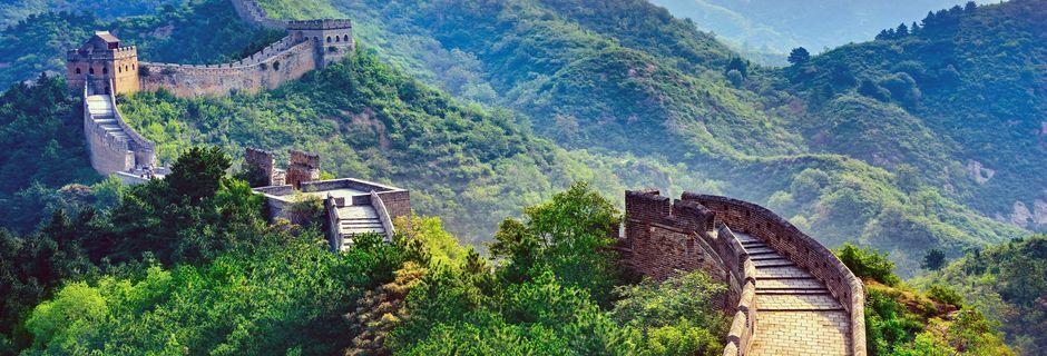 Beijing er mest kjent for Den kinesiske mur som er 6 350 kilometer lang.