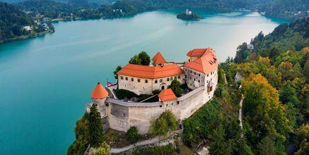 Slottet i Bled, Slovenia.