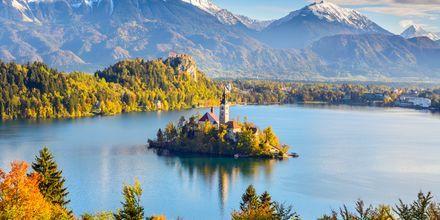 Bled i Slovenia - vakkert selv om høsten.