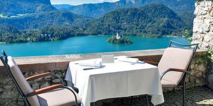 Restaurant i Bled, Slovenia.