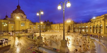 Termalbad i Budapest, Ungarn.