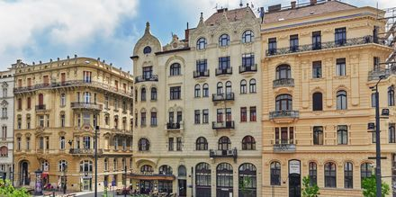 Vakre hus i Budapest, Ungarn