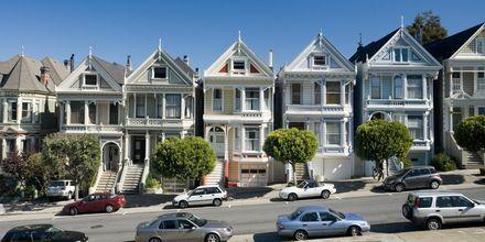 """""""The painted ladies"""" er yndet fotoobjekt i San Francisco."""
