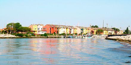 Caorle ligger innerst i Adriaterhavet