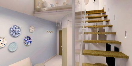 Skissebilde av dobbeltrom i etasje.