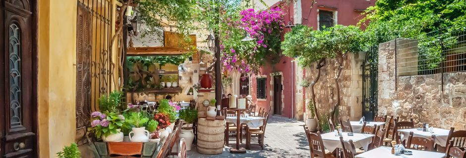 Sjarmerende restaurant i Chania by