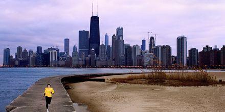 Ta en joggetur langs Lake Michigan.