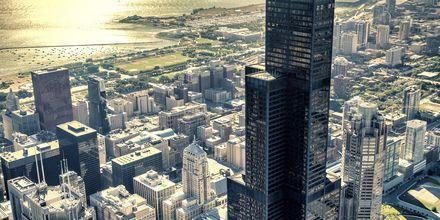 Utsikt over Chicagos skyskrapere
