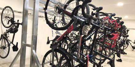 Sykkelforråd på hotellet