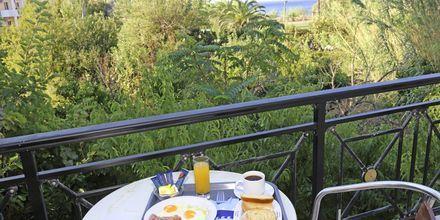 Spiseplass på balkongen