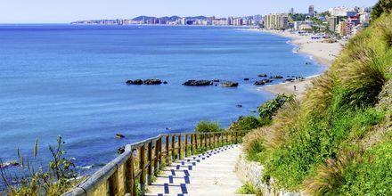 En bit av spaserturen ned til stranden Playa de Carvajal i Fuengirola på Costa del Sol.