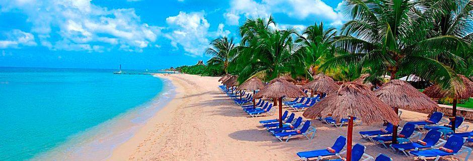 En av sandstrendene på Cozumel