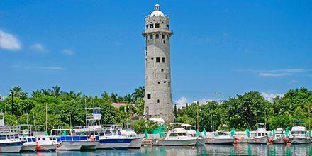 Havnen på Cozumel og det gamle fyrtårnet