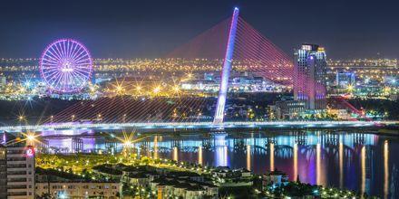 Da Nang, Vietnam om kvelden.