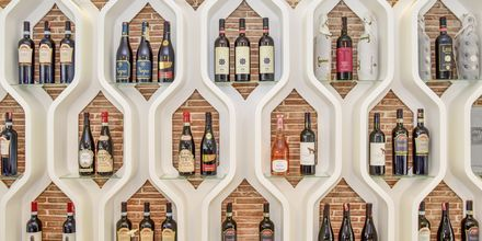Albansk vin i restauranten