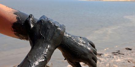 Mineralrik leire fra Dødehavet.