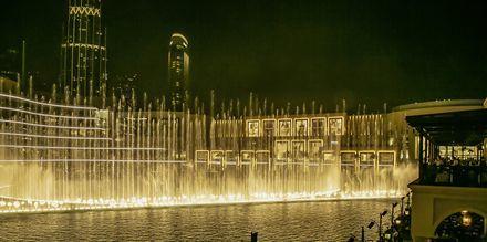Dubai fountain i Dubai Downtown