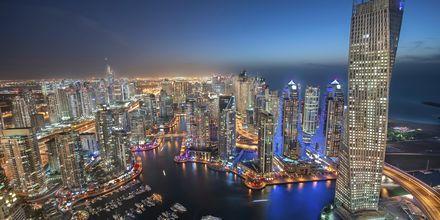 Natt over Dubai Marina