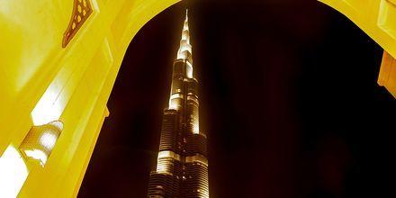 Burj Khalifa i Dubai om kvelden