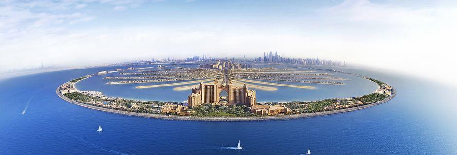 Den kunstige øya Palm Jumeirah