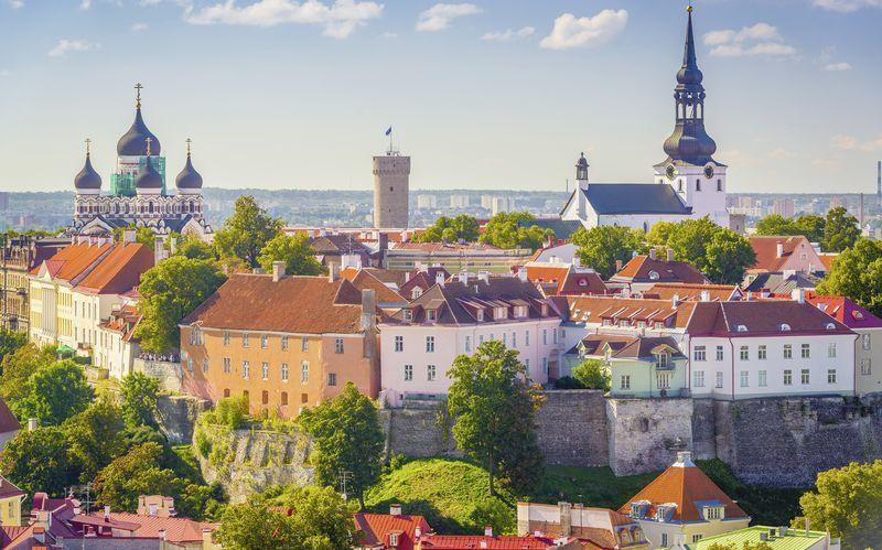 Estland er et perfekt reisemål for helgeturer. Her ser du Tallinn.