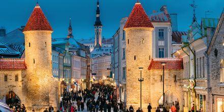 Viruporten som leder inn i Tallinns gamleby.