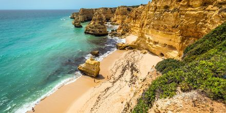 Algarvekysten i Portugal.
