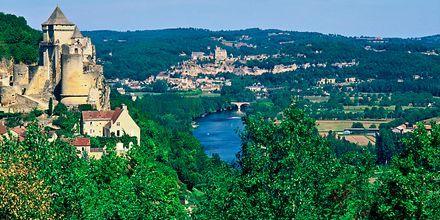 Utsikt mot Gironde i Aquitaine