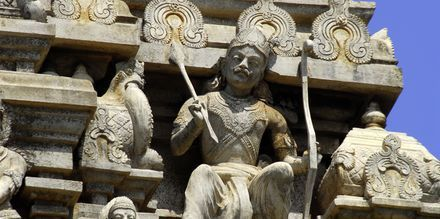 Hindutempelet Gopuram i Galle