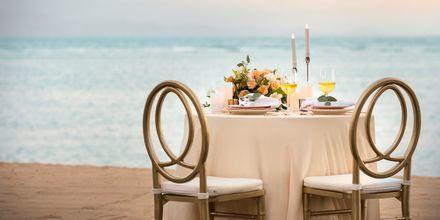 Romantisk middag ved havet