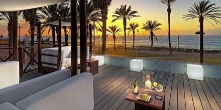 Terrasse på hotellet