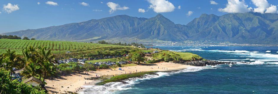 Hawaii lokker med vulkaner, hvite strender og en fantastisk natur.