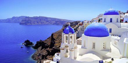 Idylliske Santorini