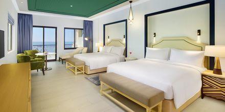 Deluxe bungalow på hotell Hilton Ras Al Khaimah Resort & Spa.