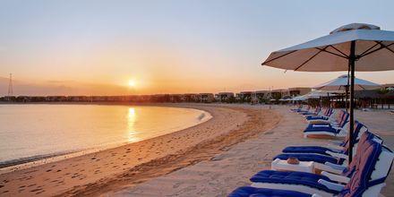 Den private stranden tilhørende hotellet.