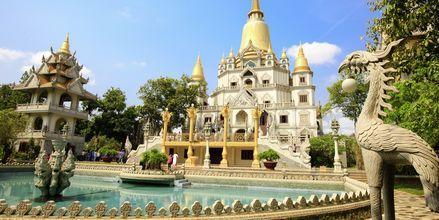 Vakre Buu Long Pagoda i Ho Chi Minh-byen